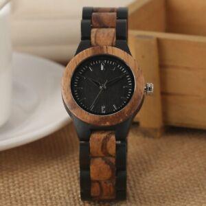 Women Wooden Watch Casual Natural Wood Quartz Wrist Watches Bamboo Bracelet Gift