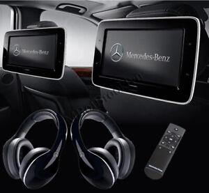 Mercedes OEM Rear Entertainment System-2 Screens-Headphones 2020-2021 GLS-Class