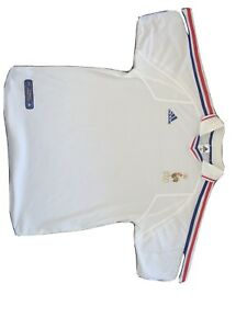 Adidas - 2000-02 - WHITE FRANCE AWAY SHIRT (Unworn without tags) LARGE