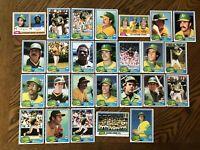 1981 OAKLAND ATHLETICS Topps COMPLETE Baseball Team Set 26 Cards HENDERSON ARMAS
