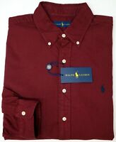 NWT $89 Polo Ralph Lauren Oxford Long Sleeve Shirt Mens Size M L XL XXL Red NEW