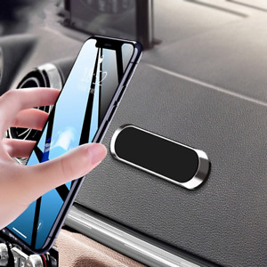 Mini Magnetic Car Phone Holder Strip Paste Stand Alloy Magnet GPS Mount