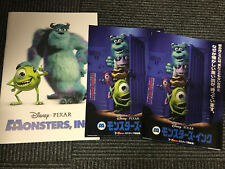 MONSTERS Inc. Japan 2002 cinema program pressbook + flyer x2 original Pixar