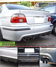 96-03 BMW E39 5-Series M5 Only Exo Look 4Dr Rear Bumper Diffuser Carbon Fiber