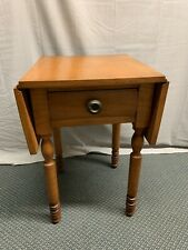 Antique Primitive Curly Maple Drop Side End Table Night Stand