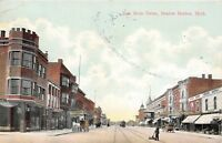 D76/ Benton Harbor Michigan Mi Postcard 1908 East Main Street Stores 3
