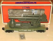 Wagon U.S.M.C. Cannon Car 3 rails échelle O Lionel