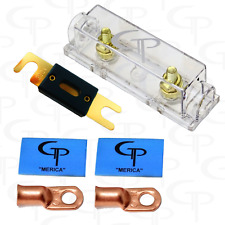 ANL Fuse block 400 amp FUSE w/ (2) 1/0 AWG Lugs and heat shrink GP Car Audio B