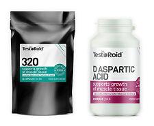 TESTOROID 320 & TESTOROID D-ASPARTIC ACID TESTOSTERONE BOOSTER HARDCORE COMBO