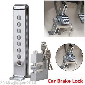 8 Hole Stainless Steel Forging Clutch Car Brake Lock Anti-theft Device with Keys