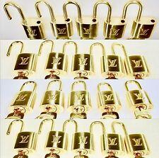 Authentic Louis Vuitton Padlock & Key + Ring # 303 Lock Goldtone