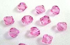 12 Rose Swarovski Crystal Bicone Beads # 5328 Xilion  6MM