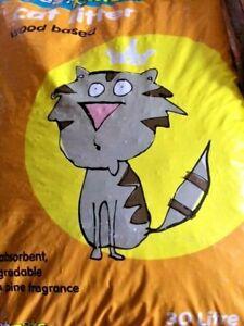 WOODBASED CAT LITTER -  1.5kg 3kg 5kg  30L Wood Based Pellets
