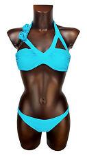 TWIN-SET costume donna turchese bikini woman turquoise sea swimwear beachwear L