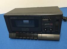 Vintage Optimus SCT-86 Realistic Stereo Cassette Tape Deck Recorder 14-654 Works