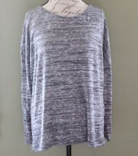 Lane Bryant Womens Sweater Size 18/20 Gray Heather Silver Sparkle L/S Plus
