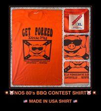 Vtg 80's KY TX BBQ TN Harley Davidson Motorcycle Dixie Southern Barbecue t-Shirt