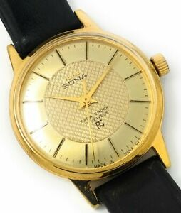 HMT Sona Watch, Gold plated, Vintage Collectible,  mechanical watch *NEW*17J.