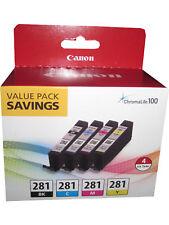 Canon CLI-281 (2091C005) Multi-Color 4 pack Ink Cartridge Genuine OEM