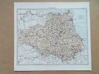 ESSEX ANTIQUE MAP BY W.JOHNSTON DATED c1900 27x21CM