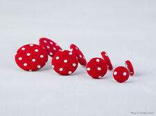 Stoffohrstecker Ohrstecker rot weiß Punkte gepunktet Ohrring Ohrringe Dots Stoff