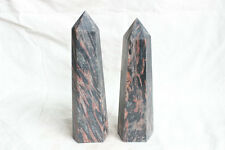 2 Natural Grain of Wood Jasper Crystal Tower Points Polished Healing 4.5LB