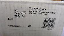 Delta Leland Chrome Roman Tub Faucet T2778-LHP ***LESS HANDLES**
