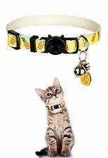 New listing Breakaway Cat Collar with Bell Adjustable Kitten Collar Cute Pineapple Cat