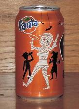 NM 2015 USA Coca-Cola LE FANTA ORANGE HALLOWEEN MUMMY 355 mL FULL CAN w/CONTENTS