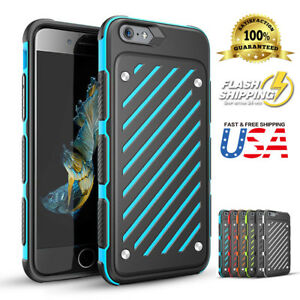 Body Armor Shockproof Hybrid Hard Heavy Duty Case Cover Fits Apple iPhone 7 8+SE