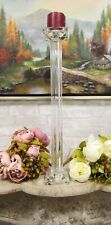 "Contemporary Crystal Glass Pillar Column Candle Holder Candlestick Accent 23""H"