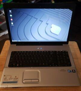 "HP G71-340US T6600 cpu 2.2 GHz 4 GB RAM 64gb ssd 17.3""  Linux Mint + a charger"