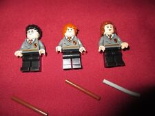 LEGO Harry Potter Minifigures LOT,Harry Potter Ron Weasley,Hermoine  Gran +Wands