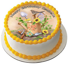 GARDENING 7.5 PREMIUM Edible ICING Cake Topper CAN PERSONALISED D2