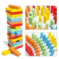 Large Retro Stacking Tumbling Wood Block Game Children's Kids Wooden Game Jenga