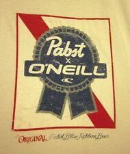 PABST BLUE RIBBON med tee PBR surfer logo T shirt Milwaukee beer O'Neill