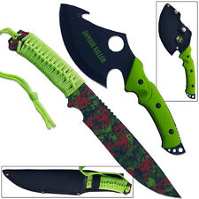Ultimate Zombie Survival Knife & Axe Set Full Tang Sharp Tracker Bowie Hunting