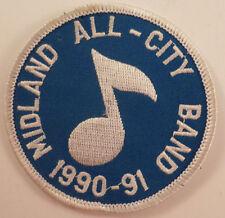 Midland All-City Band 1990-91 Vintage Uniform Patch