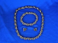 Bracelet Ears Set deep swirl Mex 217 Modernist ster. Neck ,
