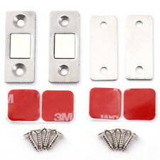 3x Ultra Thin Door Catch Latch Magnetic Cabinet Cupboard Glass Suction Stopper