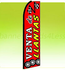 VENTA DE LLANTAS - Swooper Flag Feather Flutter Banner Sign Tall 11.5' - rq