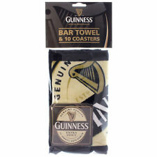 Guinness Bar Towel and Coaster Set Official Merchandise