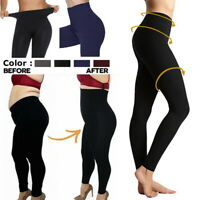Women's High Waist Tummy Compression Control Top Leggings jeggings solidcolor