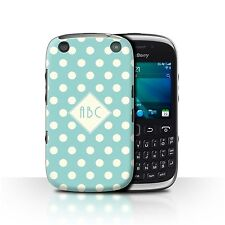 Personalized Custom Polka Dot Phone Case for Blackberry Curve 9320/Initial Cover