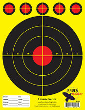 100 PACK (PADDED): PAPER SHOOTING SNIPER TARGETS: CLASSIC SERIES YELLOW