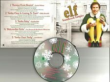 Will ferrell ELF Sampler PROMO CD Louis Prima EDY ARNOLD EARTHA KITT les baxter