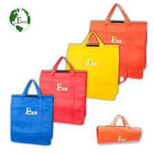 Reusable Grocery Shopping Trolley Bags of 4 PCS with Insulated Cooler Bag