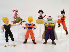 Dragonball Z Set of 6 Gashopon Figures: Goku, Bulma, Vegeta, and Piccolo