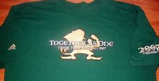 Notre Dame Football 2007 The Shirt Together As One Green Adidas T-Shirt Yth Sm