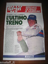 AUTOSPRINT 1988 SPECIALE 29° RALLY SANREMO=CARTINA=LISTA VETTURE=MIKI BIASION=
